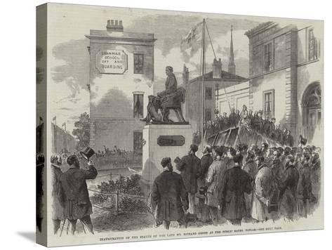 Inauguration of the Statue of the Late Mr Richard Green at the Public Baths, Poplar--Stretched Canvas Print