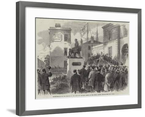 Inauguration of the Statue of the Late Mr Richard Green at the Public Baths, Poplar--Framed Art Print