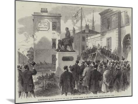 Inauguration of the Statue of the Late Mr Richard Green at the Public Baths, Poplar--Mounted Giclee Print
