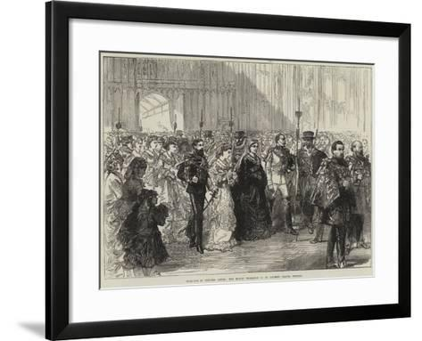 Marriage of Princess Louise, the Bride's Procession in St George's Chapel, Windsor--Framed Art Print