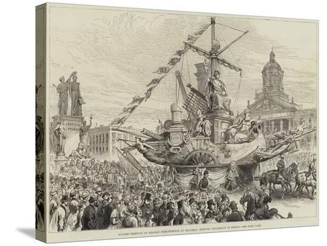 Jubilee Festival of Belgian Independence at Brussels, Historic Procession of Guilds--Stretched Canvas Print