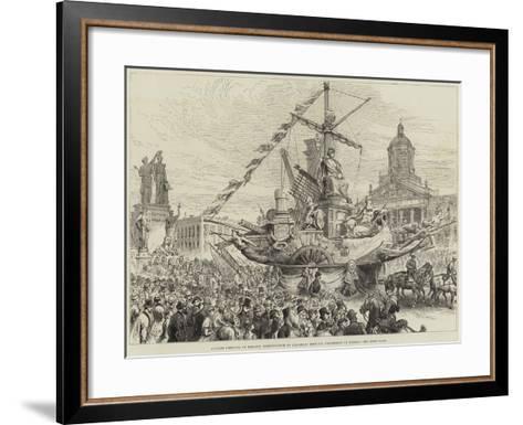 Jubilee Festival of Belgian Independence at Brussels, Historic Procession of Guilds--Framed Art Print