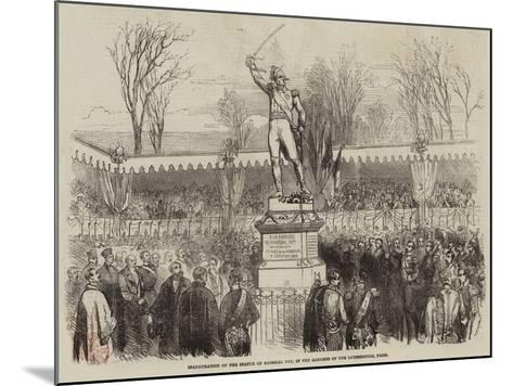 Inauguration of the Statue of Marshal Ney, in the Gardens of the Luxembourg, Paris--Mounted Giclee Print