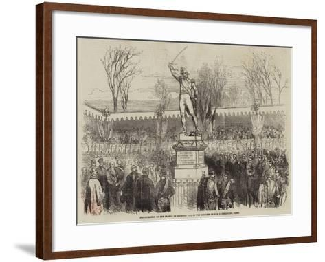 Inauguration of the Statue of Marshal Ney, in the Gardens of the Luxembourg, Paris--Framed Art Print