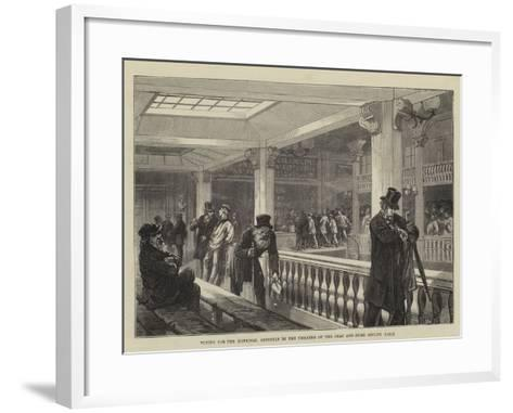 Voting for the National Assembly in the Theatre of the Deaf and Dumb Asylum, Paris--Framed Art Print