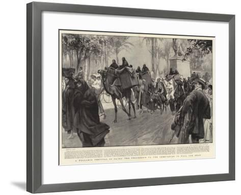 A Fellahin Festival in Cairo, the Procession to the Cemeteries to Wail the Dead--Framed Art Print