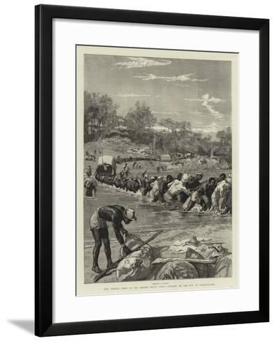The Pioneer Corps of the British South Africa Company on the Way to Mashonaland--Framed Art Print