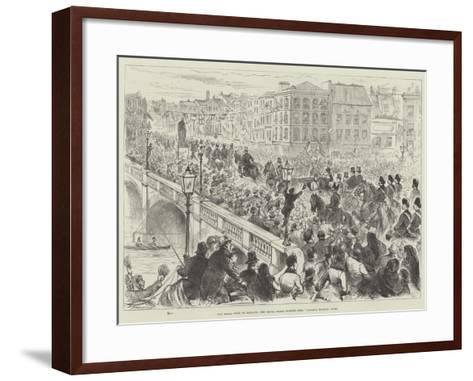 The Royal Visit to Ireland, the Royal Party Passing over Parnell Bridge, Cork--Framed Art Print