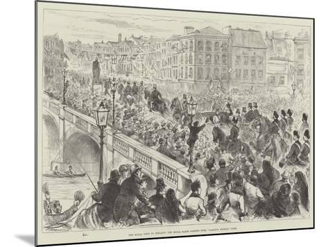 The Royal Visit to Ireland, the Royal Party Passing over Parnell Bridge, Cork--Mounted Giclee Print