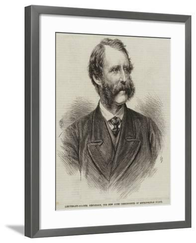Lieutenant-Colonel Henderson, the New Chief Commissioner of Metropolitan Police--Framed Art Print
