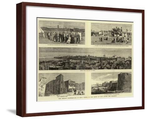The Recent Earthquake at Scio, Views in the Town of Scio after the Disaster--Framed Art Print