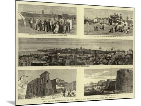 The Recent Earthquake at Scio, Views in the Town of Scio after the Disaster--Mounted Giclee Print