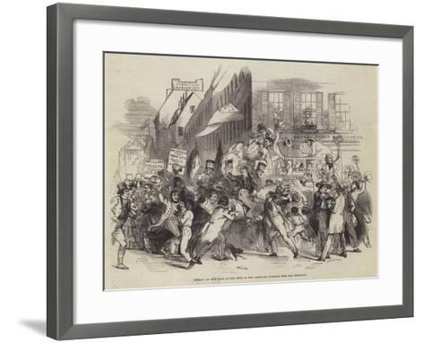 Arrival at New York of the News of the American Victories over the Mexicans--Framed Art Print