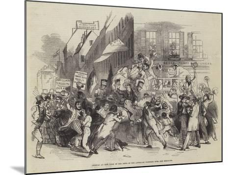 Arrival at New York of the News of the American Victories over the Mexicans--Mounted Giclee Print