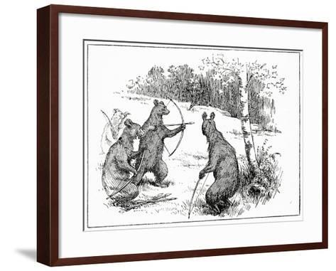 The Bears Practicing Shooting Arrows, from 'The Book of Myths' by Amy Cruse, 1925--Framed Art Print