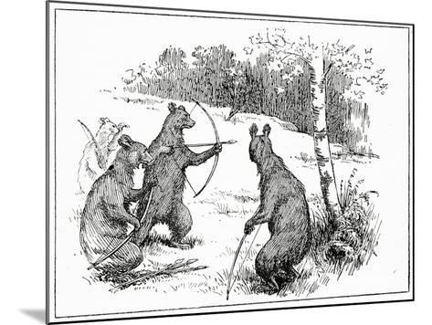 The Bears Practicing Shooting Arrows, from 'The Book of Myths' by Amy Cruse, 1925--Mounted Giclee Print