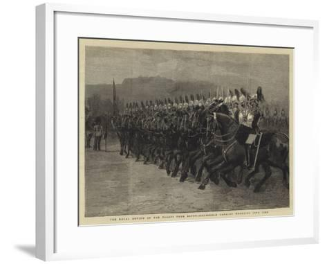 The Royal Review of the Troops from Egypt, Household Cavalry Wheeling into Line--Framed Art Print