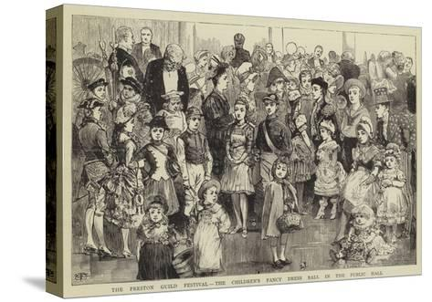 The Preston Guild Festival, the Children's Fancy Dress Ball in the Public Hall--Stretched Canvas Print