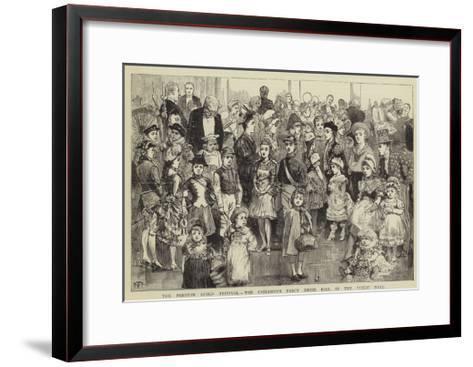 The Preston Guild Festival, the Children's Fancy Dress Ball in the Public Hall--Framed Art Print