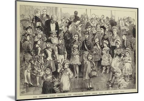 The Preston Guild Festival, the Children's Fancy Dress Ball in the Public Hall--Mounted Giclee Print