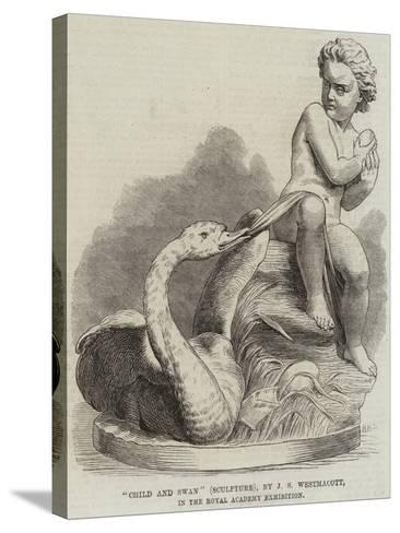 Child and Swan (Sculpture), by J S Westmacott, in the Royal Academy Exhibition--Stretched Canvas Print
