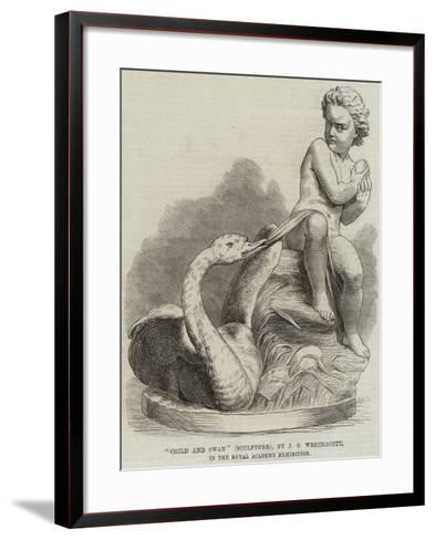 Child and Swan (Sculpture), by J S Westmacott, in the Royal Academy Exhibition--Framed Art Print