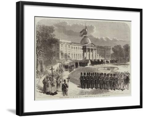Funeral Procession of the Prince Royal of Belgium Leaving the Palace of Laeken--Framed Art Print