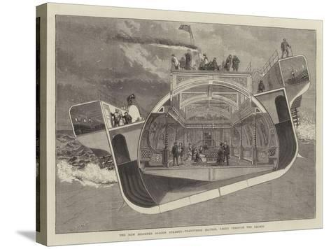 The New Bessemer Saloon Steamer, Transverse Section, Taken Through the Saloon--Stretched Canvas Print