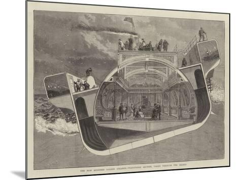 The New Bessemer Saloon Steamer, Transverse Section, Taken Through the Saloon--Mounted Giclee Print