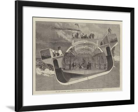 The New Bessemer Saloon Steamer, Transverse Section, Taken Through the Saloon--Framed Art Print