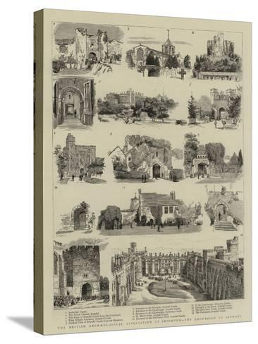 The British Archaeological Association at Brighton, the Excursion to Arundel--Stretched Canvas Print