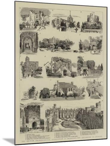 The British Archaeological Association at Brighton, the Excursion to Arundel--Mounted Giclee Print