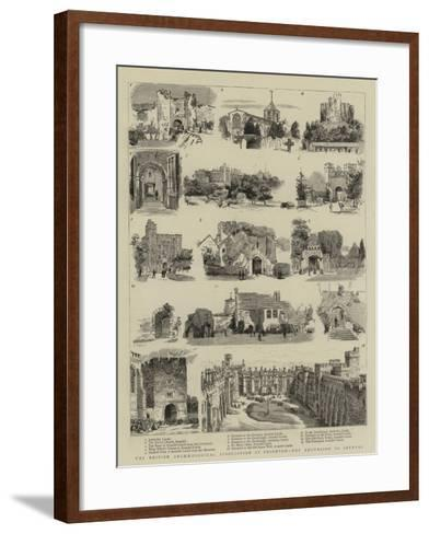The British Archaeological Association at Brighton, the Excursion to Arundel--Framed Art Print