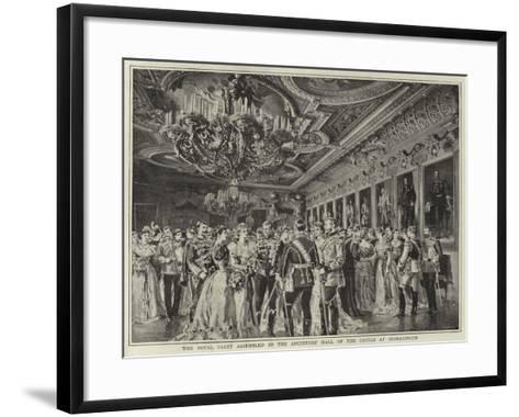 The Royal Party Assembled in the Ancestors' Hall of the Castle at Sigmaringen--Framed Art Print