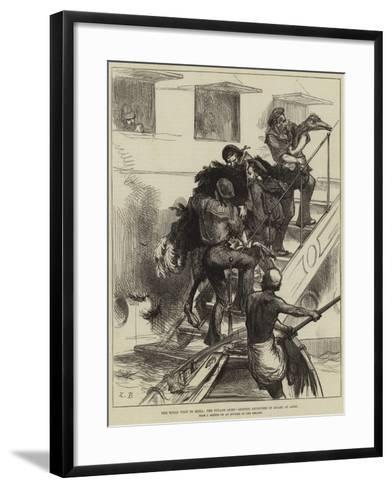 The Royal Visit to India, the Voyage Home, Getting Ostriches on Board at Aden--Framed Art Print