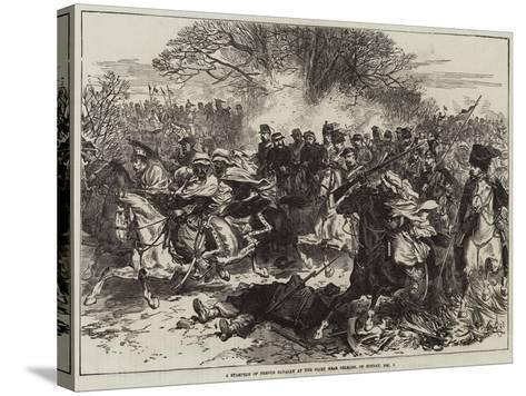 A Stampede of French Cavalry at the Fight Near Orleans, on Sunday, 4 December--Stretched Canvas Print