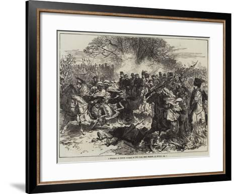 A Stampede of French Cavalry at the Fight Near Orleans, on Sunday, 4 December--Framed Art Print