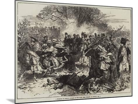 A Stampede of French Cavalry at the Fight Near Orleans, on Sunday, 4 December--Mounted Giclee Print