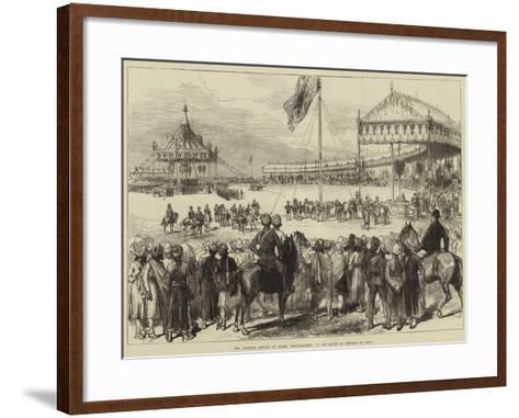 The Imperial Durbar at Delhi, Proclamation of the Queen as Empress of India--Framed Art Print
