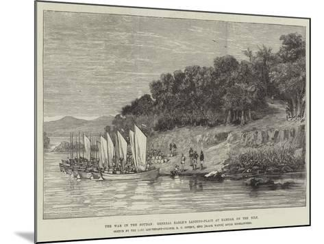 The War in the Soudan, General Earle's Landing-Place at Hamdab, on the Nile--Mounted Giclee Print