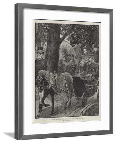 The Emperor of Germany Taking His Daily Drive in the Park at Charlottenburg--Framed Art Print