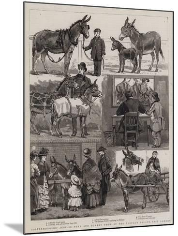 Costermongers' Jubilee Pony and Donkey Show at the People's Palace, East London--Mounted Giclee Print