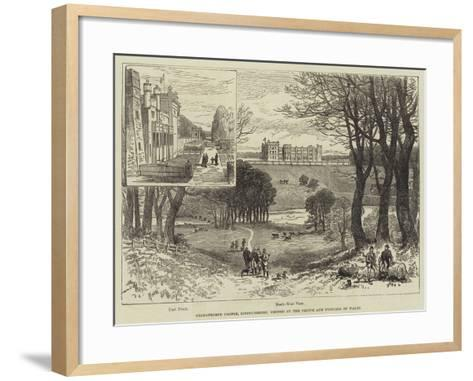 Grimsthorpe Castle, Lincolnshire, Visited by the Prince and Princess of Wales--Framed Art Print