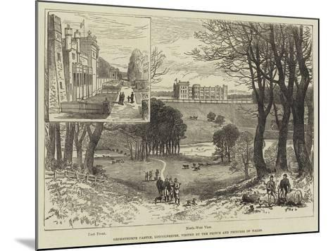 Grimsthorpe Castle, Lincolnshire, Visited by the Prince and Princess of Wales--Mounted Giclee Print