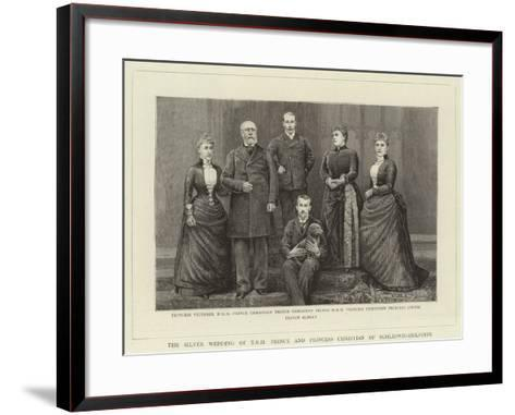 The Silver Wedding of T R H Prince and Princess Christian of Schleswig-Holstein--Framed Art Print