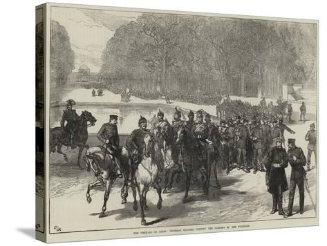 The Germans in Paris, Prussian Soldiers Visiting the Gardens of the Tuileries--Stretched Canvas Print