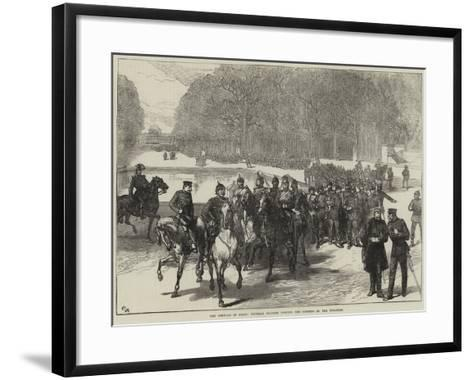 The Germans in Paris, Prussian Soldiers Visiting the Gardens of the Tuileries--Framed Art Print