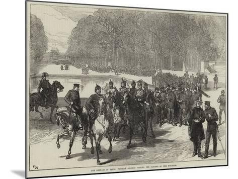 The Germans in Paris, Prussian Soldiers Visiting the Gardens of the Tuileries--Mounted Giclee Print