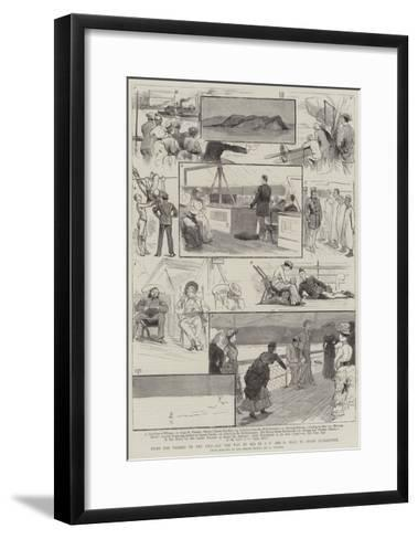 From the Thames to the Nile, All the Way by Sea in a P and O Boat Avoid Quarantine--Framed Art Print