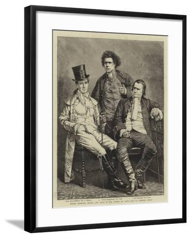 Messers Mathews, Phelps, and Toole in the Comedy of John Bull, a Portrait Group--Framed Art Print